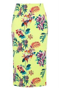 Oasis Tropical Pencil Skirt