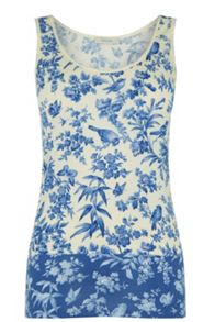 Oasis Rosie Bird Patched Print Vest