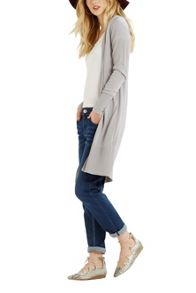 Oasis Rib Trim Edge to Edge Cardi