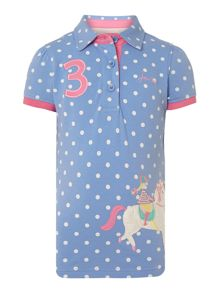 Girls cotton polo