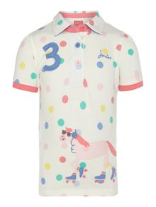 Girls cotton pique polo