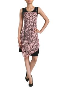 Izabel Layered Paisley Panel Dress