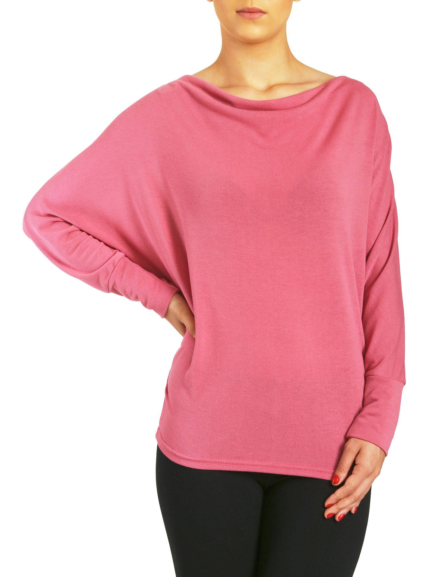 Zip detail cowl neck top