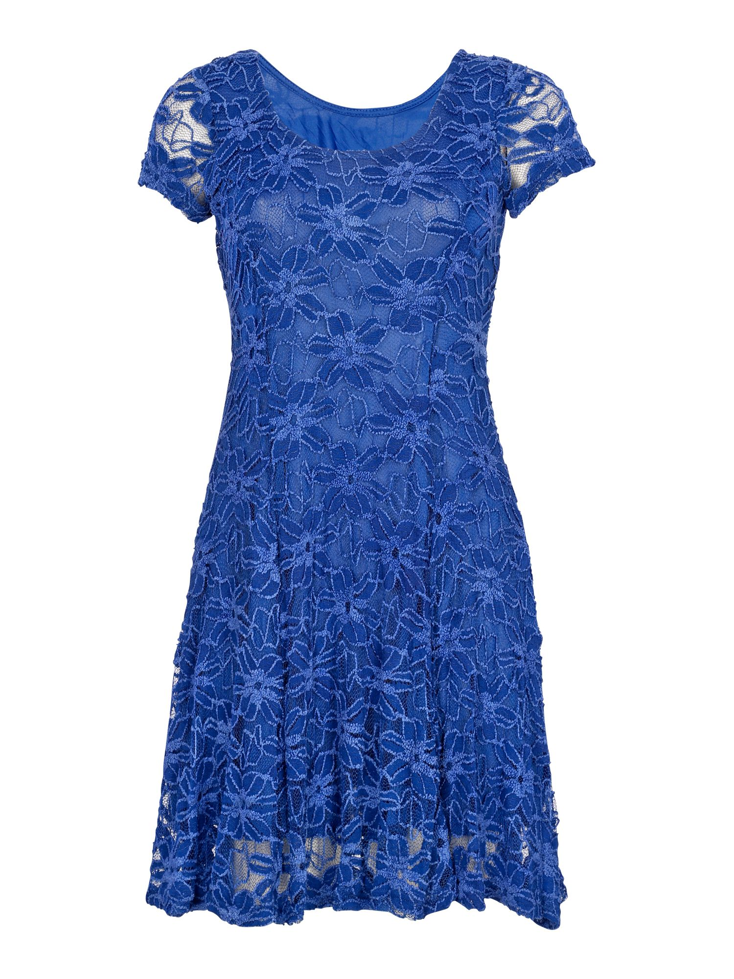 Lace cap sleeved dress