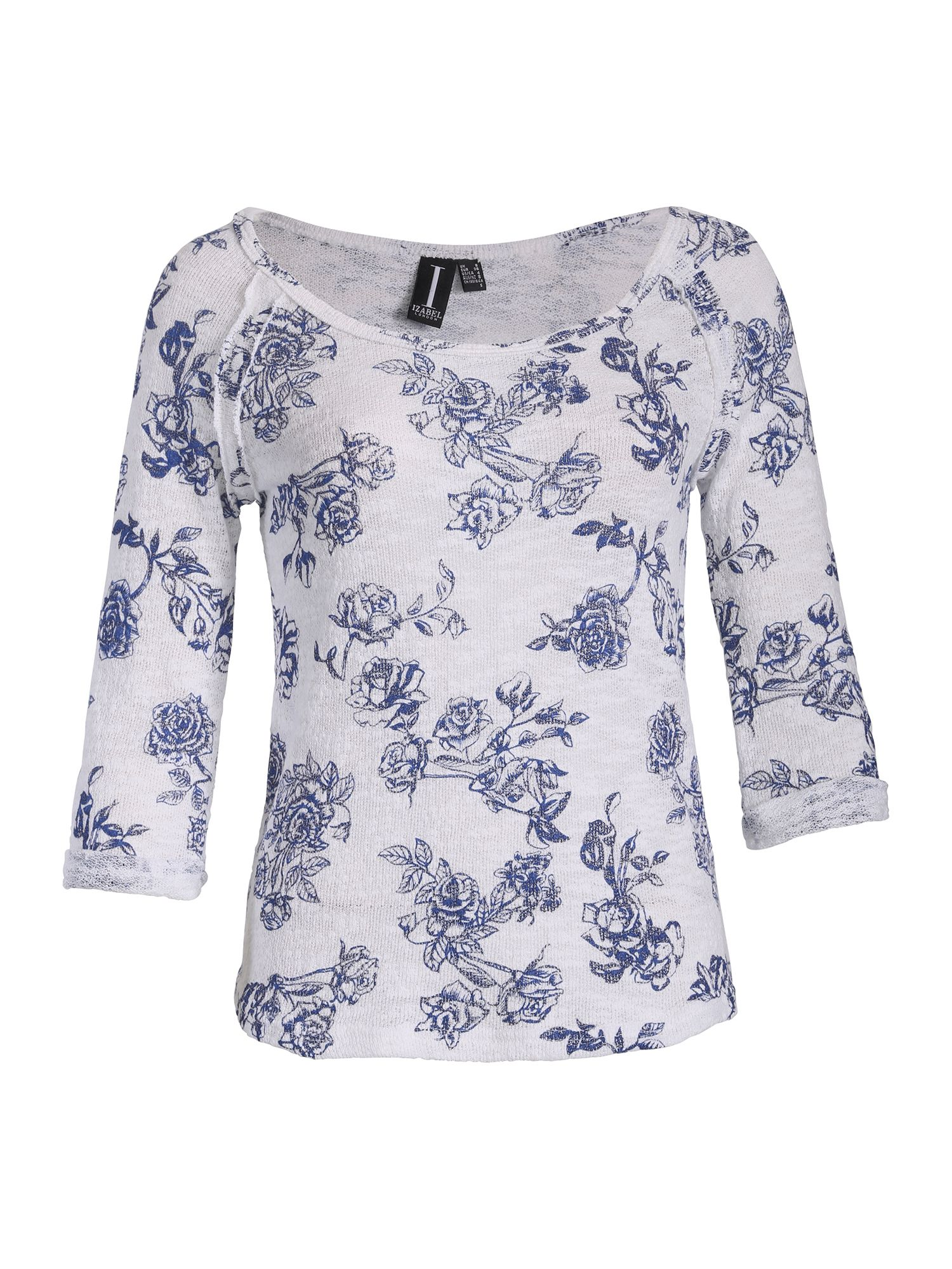 Textured rose print top