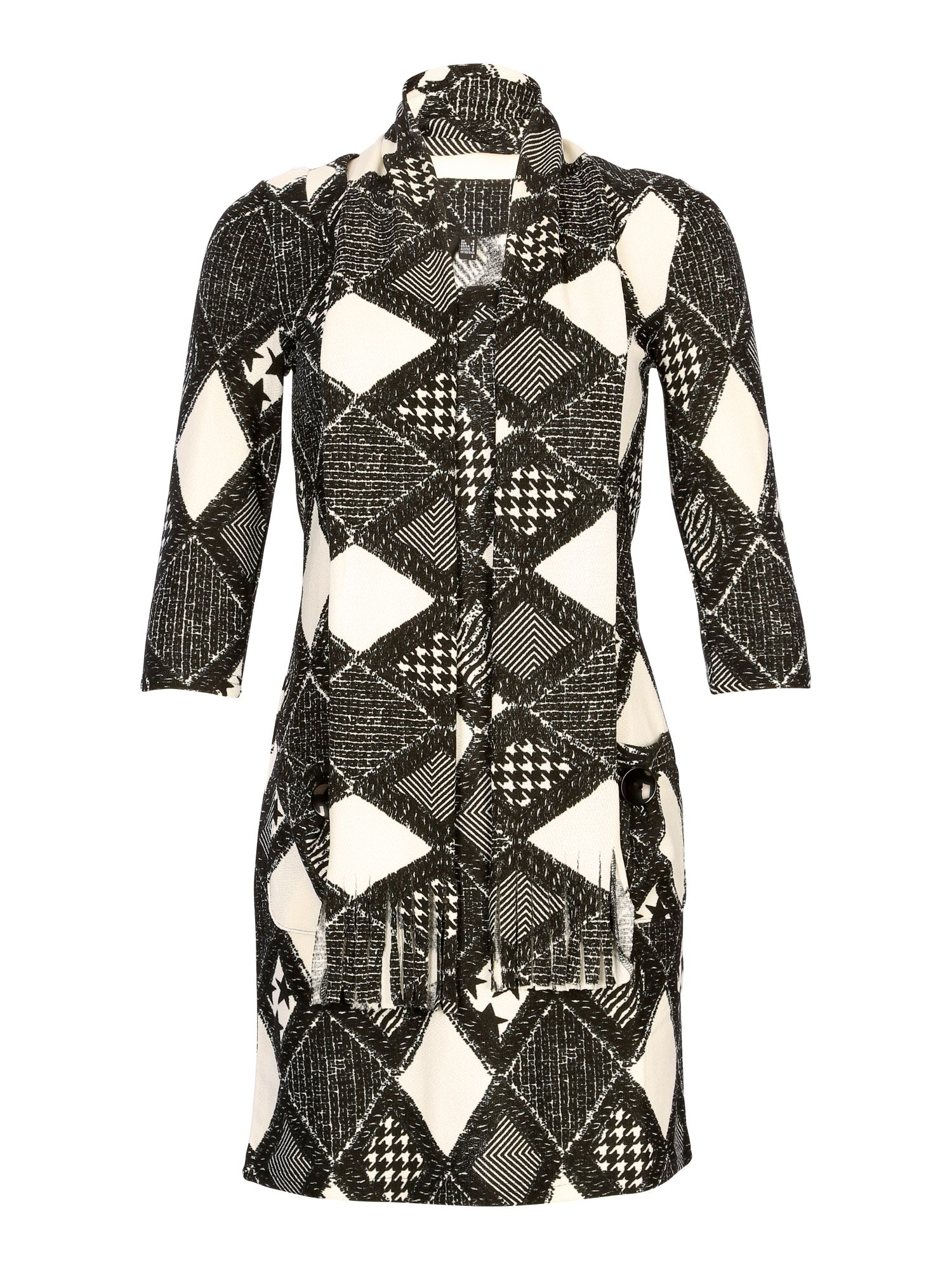 Houndstooth printed dress