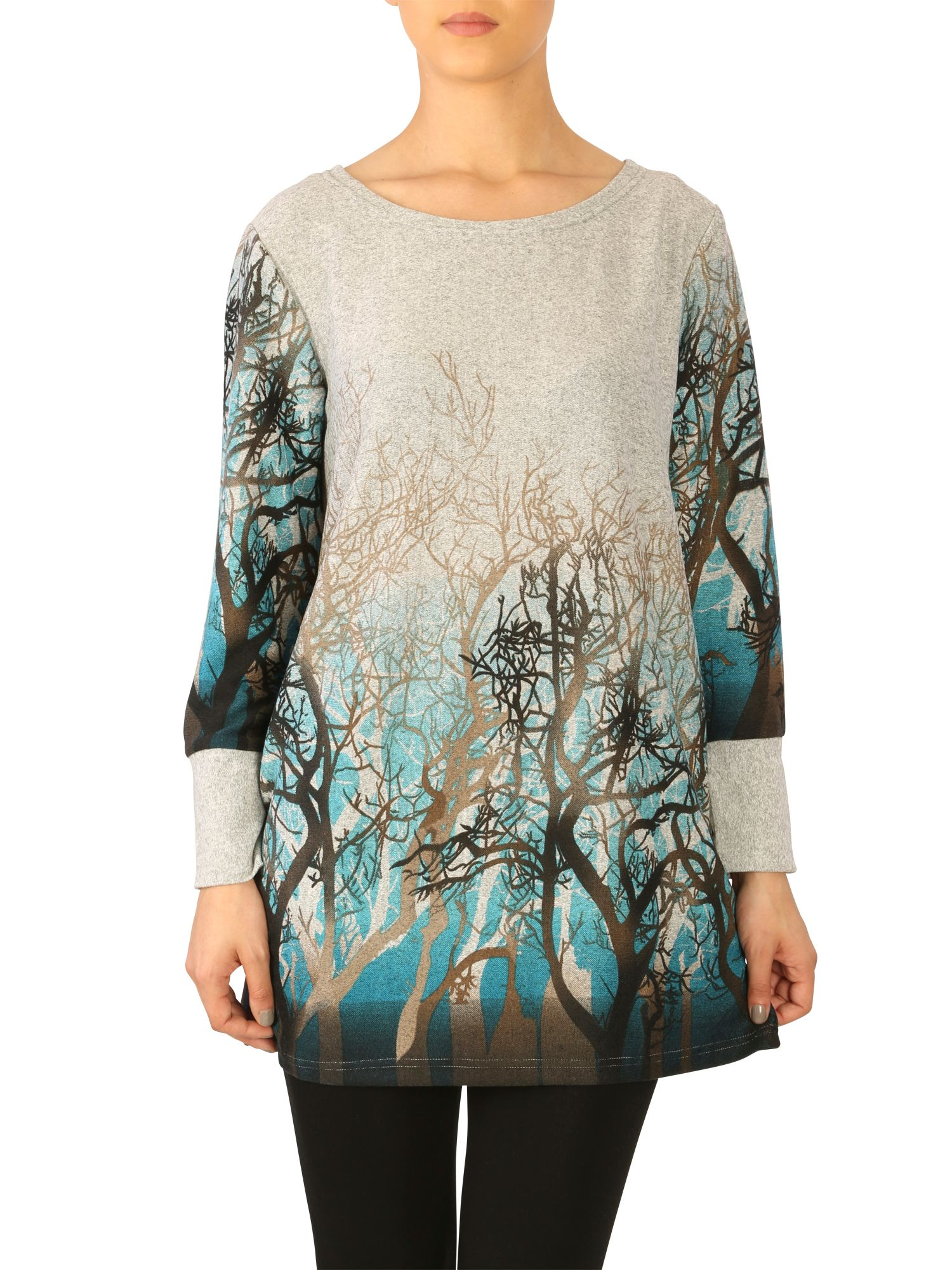 Forest print jumper