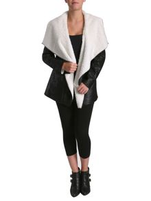 Waterfall faux fur jacket