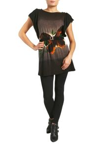 Belted Batwing Mini Dress