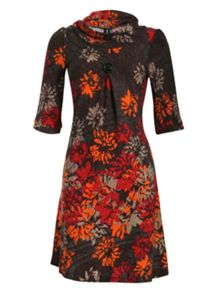 Floral Print Knitted Dress