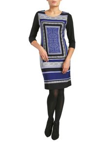 Eastern Print Shift Dress