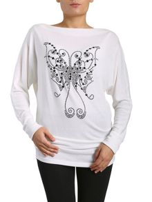 Studded Butterfly Top