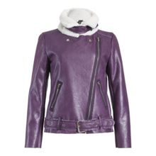 Izabel London Fleece Lined Aviator Jacket