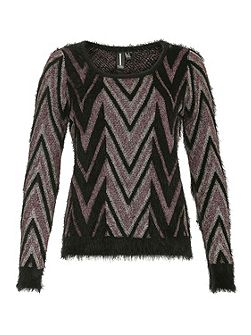 Metallic Thread Knitted Pullover