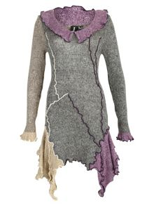 Frill Detail Knitted Dress