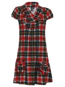 Checked Double Pocket Top