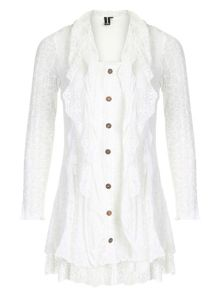 Lace Button Up Top