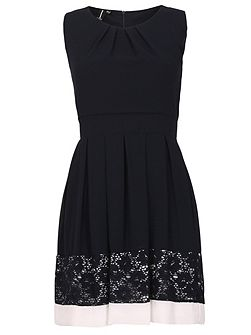 Floral Lace Hem Dress