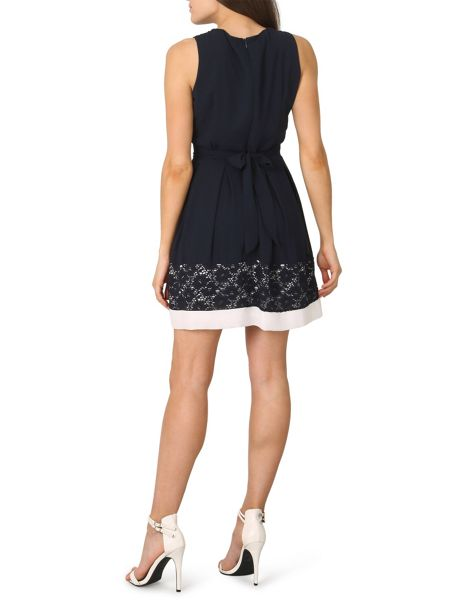 Izabel London Floral Lace Hem Dress