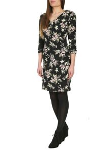 Floral Knitted Midi Dress