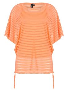 Izabel London See Thru Stripe Top