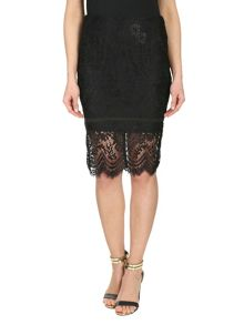 Paisley Floral Lace Skirt