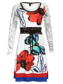 Embellished Abstract Dress
