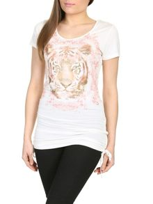Izabel London Tiger Printed T-Shirt