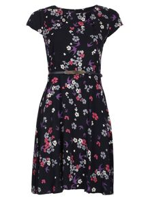 Ditsy Floral Cut Out Dress