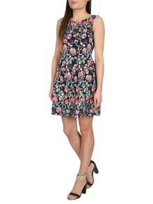 Tapestry Floral Print Dress
