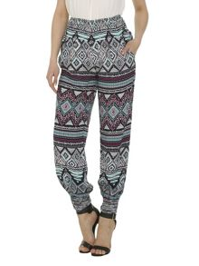 Izabel London Multi Tribal Print Trousers