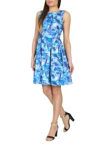 Abstract Graphic Print Dress