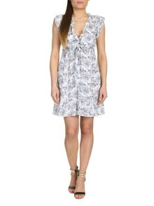 Belted Eastern Print Dress