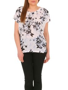 Oversized Butterfly Print Top