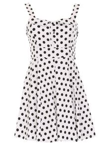 Polka Dot Cocktail Dress