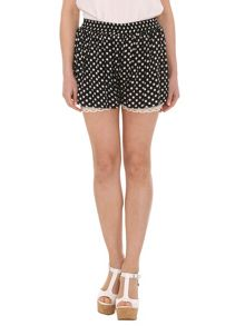 Polka Dot Crochet Shorts