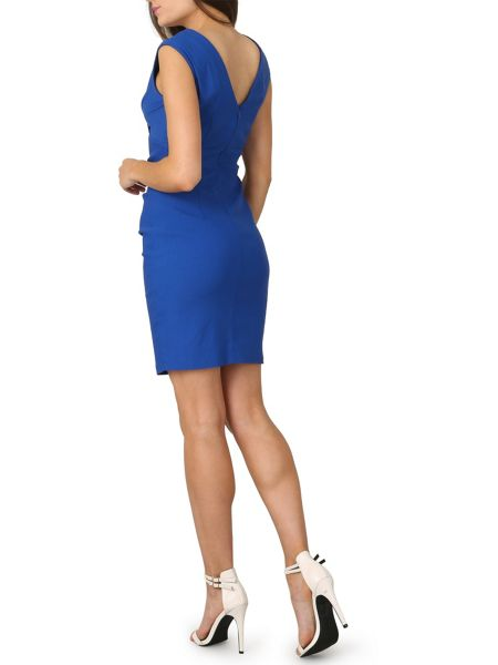 Izabel London Crossover Front Bodycon Dress