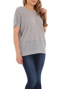 Textured Knit Batwing Top