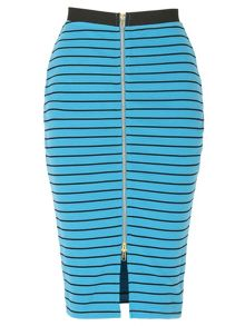 Horizontal Stripe Pencil Skirt