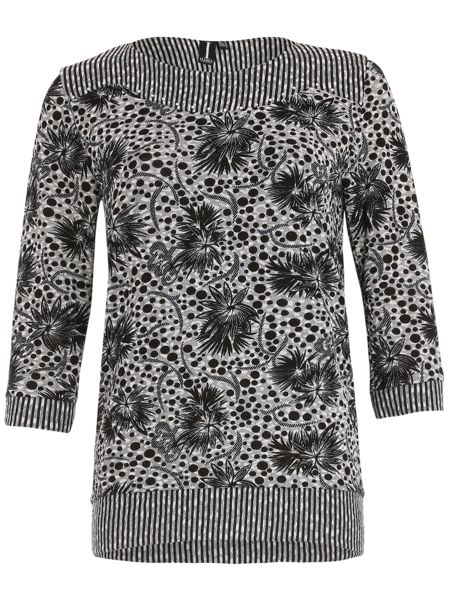 Izabel London Printed Diamante Detail Top