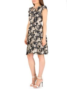 Fit and Flare Dress with Keyhole Panels