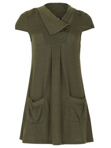 Cap Sleeve Pocketed Top