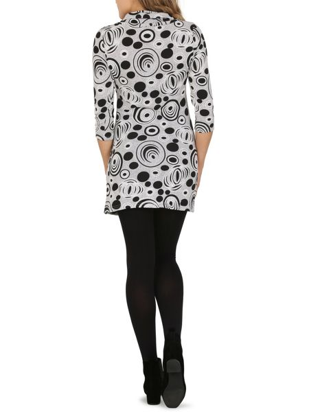 Izabel London Optical Print Knit Dress