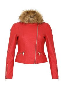 Izabel London Classic Biker Jacket