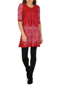 Izabel London Baroque Print Knit Dress