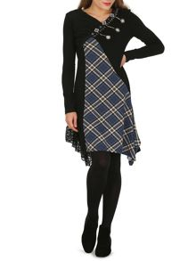 Izabel London Multi Pattern Patchwork Midi Dress