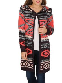 Izabel London Long-Sleeved Print Knitted Cardigan