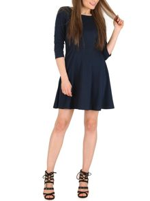 Izabel London Skater Dress with Epaulette Detail
