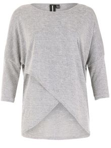 Izabel London Oversized Layered Hem Top