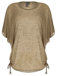 Izabel London Sheer Oversized Batwing Top